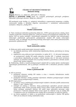 Všeobecné obchodné podmienky, dokument na