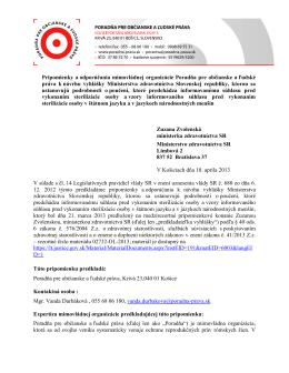 PDF, 203 KB - Poradňa pre občianske a ľudské práva