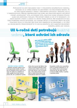 Už 4-ročné deti potrebujú kvalitné sedenie, ktoré ochráni