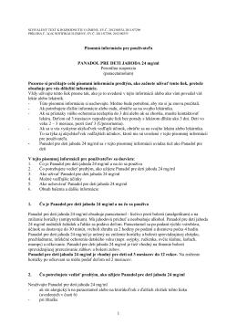 1 Písomná informácia pre používateľa PANADOL PRE DETI