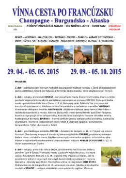 Champagne-Burgundsko-Alsasko 29.04. - 05.05.2015 - A