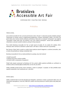 Bratislava - Accessible Art Fair Brussels