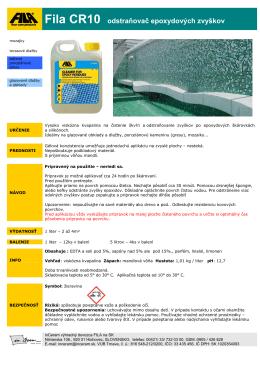 Fila CR10 odstraňovač epoxydových zvyškov