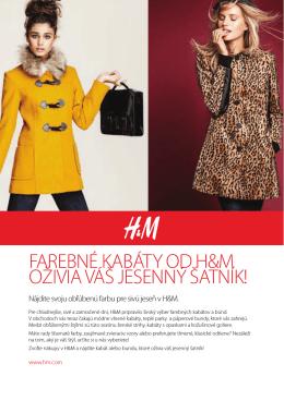 Farebné kabáty od H&M oživia váš jesenný šatník!