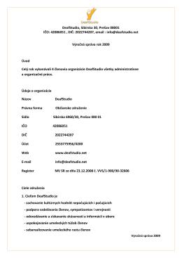 Výročné správy rok 2009