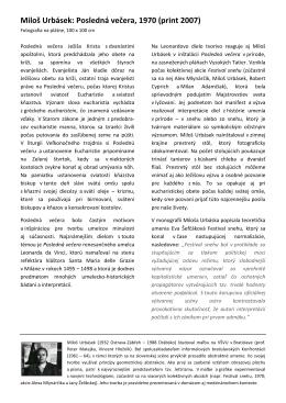 Miloš Urbásek: Posledná večera, 1970 (print 2007)