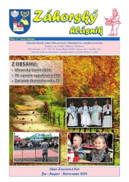 Záhorský hlásnik 3/2014