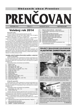 Volebný rok 2014