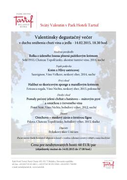 Park Hotel Tartuf / valentinsky vecer