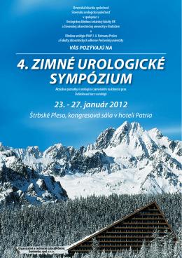 Odborný program 4. zimného urologického sympózia (PDF)