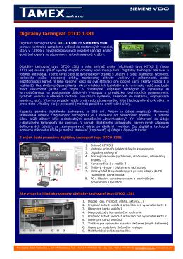 Digitálny tachograf DTCO 1381