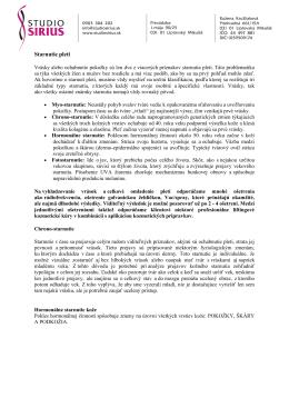 Starnutie pleti - studiosirius.sk