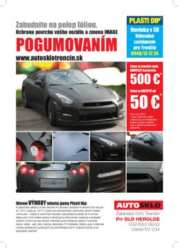 pOGuMOvAníM 50 € - AUTOSKLO Trenčín