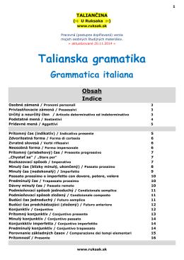 Talianska gramatika