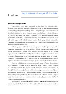 Anglický jazyk 5. ročník – autor RNDr. Z. Kokavcová