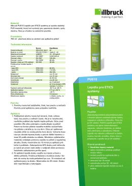 PU010 Lepidlo pre ETICS systémy