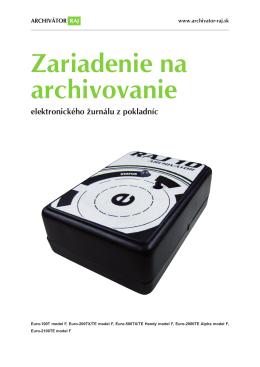 Zariadenie na archivovanie
