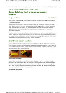 Xerox SolidInk: Keď je toner nahradený voskom