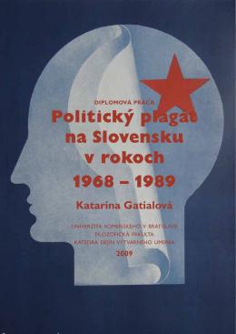 Politický plagát na Slovensku v rokoch 1968 – 1989
