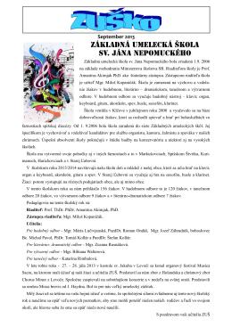 Základná umelecká škola sv. Jána Nepomuckého
