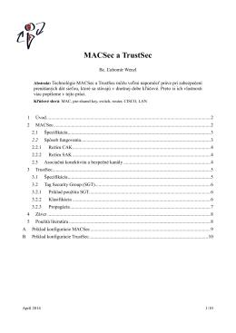 MACSec a TrustSec