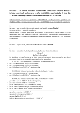 Dodatok č. 2 k Zmluve o založení pozemkového spoločenstva