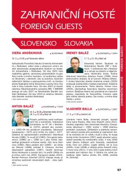 ZAHRANIČNÍ HOSTÉ - Svět knihy Praha 2013