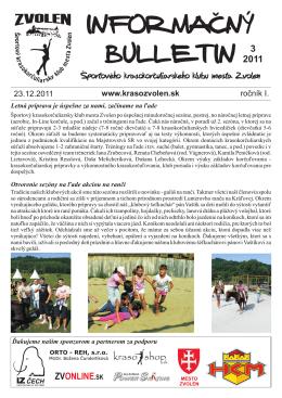 3/2011 - Športový krasokorčuliarsky klub mesta Zvolen
