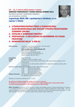 organizuje RKZL BB v spolupráci s Jarident, s.r.o. (akcia 7/2015) 1