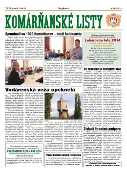 Komárňanské listy 13/2014
