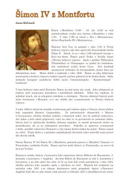 James McDonald Šimon z Montfortu sa stal (1160 – 25