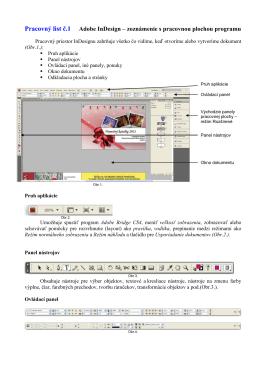 Pracovný list č.1 Adobe InDesign – zoznámenie s