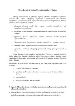 Organizačná štruktúra Obecného úradu v Štítniku