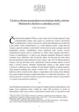 Ľubica Kázmerová - Forum Historiae