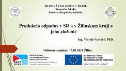 Ing. Martin Vantúch, PhD. – KET, SjF, ŽU v Žiline