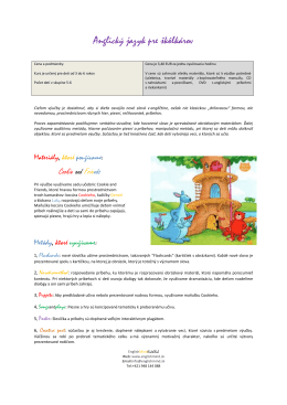 Pre škôlkárov - englishmind.sk