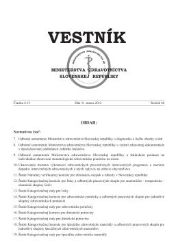 vestnik 6-15 2012.pdf - Ministerstvo zdravotníctva SR