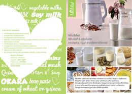 OKARA MioMat Návod k obsluhe recepty, tipy a odporúčania