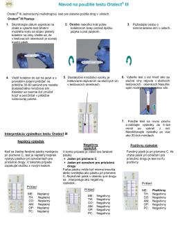 Návod na použitie testu Oratect® III