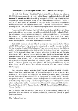 čítať viac - ZŠ s MŠ Pavla Demitru