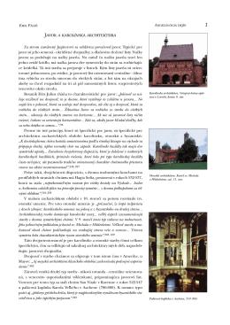 Javor a karolínska architektúra Za strom zasvätený
