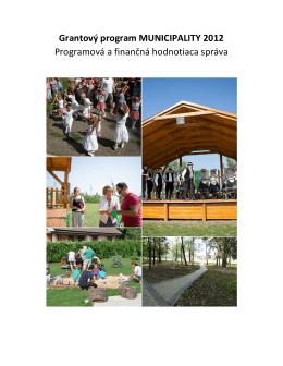 Záverečná správa z programu Municipality 2012