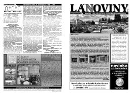 Lánoviny 2011, dvojčíslo 9 - Povazska Bystrica
