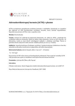 Adrenokortikotropný hormón (ACTH) v plazme