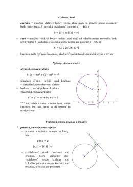 Kružnica, kruh - kružnica = množina všetkých bodov