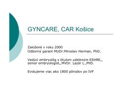 Prezentácia GYNCARE