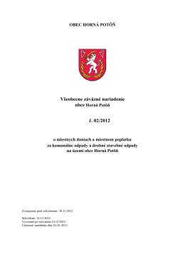 VZN na miestne dane na rok 2013