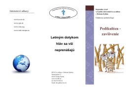Pedikulóza - zavšivenie - Regionálny úrad verejného zdravotníctva