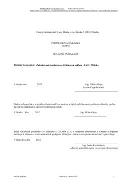 Súťažné podklady (.PDF)