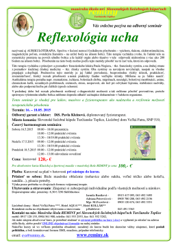 Reflexológia ucha - Masérska škola REMINY